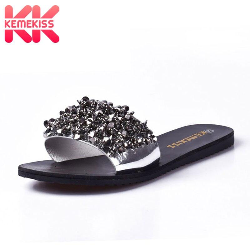 KemeKiss Women Bowknot Flats Sandals Bowtie Flip Flops Summer Vacation Shoes Women Holiday Sandals Flats Slippers Size 35-39