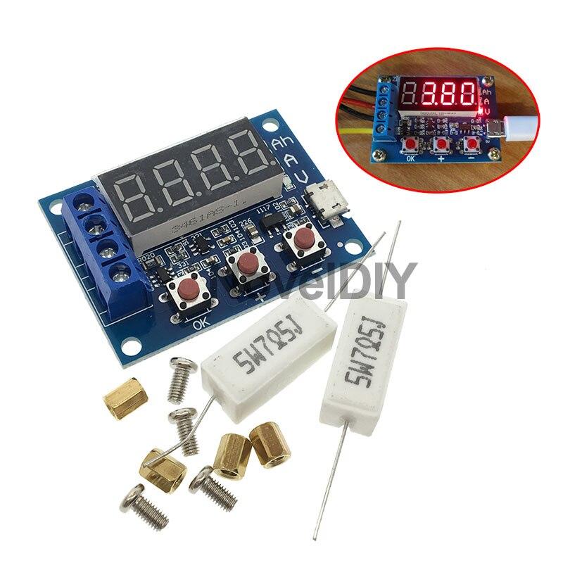 1.2v 12v ZB2L3 18650 Li ion Lithium Battery Capacity Tester + Resistance Lead acid Battery Capacity Meter Discharge Tester