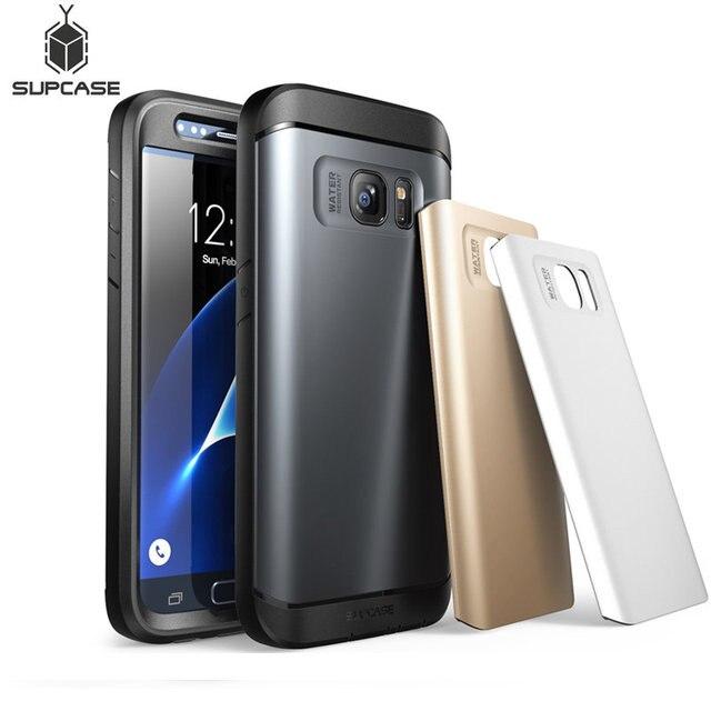Für Samsung Galaxy S7 Fall SUPCASE Wasserdicht Voll Körper Robuste Fall mit Integrierten Bildschirm Protector + 3 Austauschbar abdeckungen