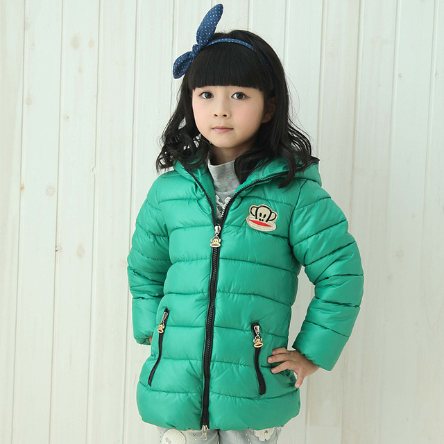 2778cf68cfc9 Kids winter 2014 new girls coat jacket thick jacket mouth monkey ...