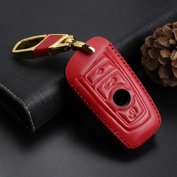 Car Key Case Cover for BMW 520 525 730li 740 118 320i 1 3 5 7 Series X3 X4 M3 M4 M5 Car Styling Leather Protection Shell Keyring image