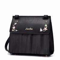 Europe Na 2017 Female Bag Winter New Trend Of Su Embroidery All Match Single Shoulder Bag