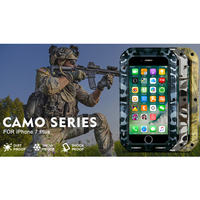 LOVEMEI CAMO Series Aluminum Waterproof Case For iPhone 7 Plus Cover Armor Camouflage Full Body Protection Defender Phone Case