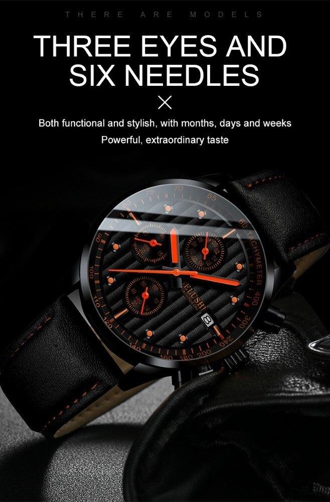 HTB10HTsaUrrK1RkSne1q6ArVVXaO Luxury Men's Quartz Watch Sport Casual Wristwatch Men Military Watches Clock Man Leather Wrist Watch Date Waterproof 30M Relogio
