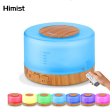 HIMIST 500ML Essential Oil Diffuser Aromatherapy Air Humidifier Colorful LED Lamp Ultrasonic Cool Mist Maker for Office Home цена 2017