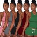 Verão Duas Peças Set Mulheres Sexy Conjunto Femme Praia Suor Terno Agasalho Colheita Colete Top + Calções Bodysuit Outfits Suit 2017