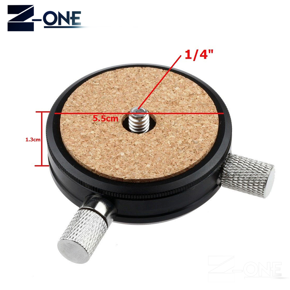 QR-02 Quick Release QR Plate 1/4 3/8 Screw Adapter for Ball Head Tripod Monopod