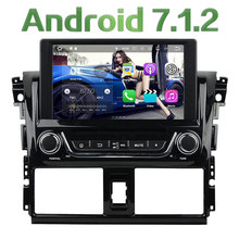 "8"" Quad Core Android 7.1 2GB RAM 4G DAB+ Wifi Multimedia Car DVD Player Stereo Radio GPS Navi Screen for Toyota Yaris 2014 2015"