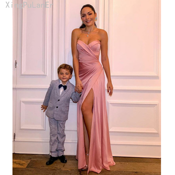 Mermaid Sweetheart High Split Side Slit Long Pink Sexy Evening Dress 2019 Prom Gowns Evening Party Gown vestidos de fiesta