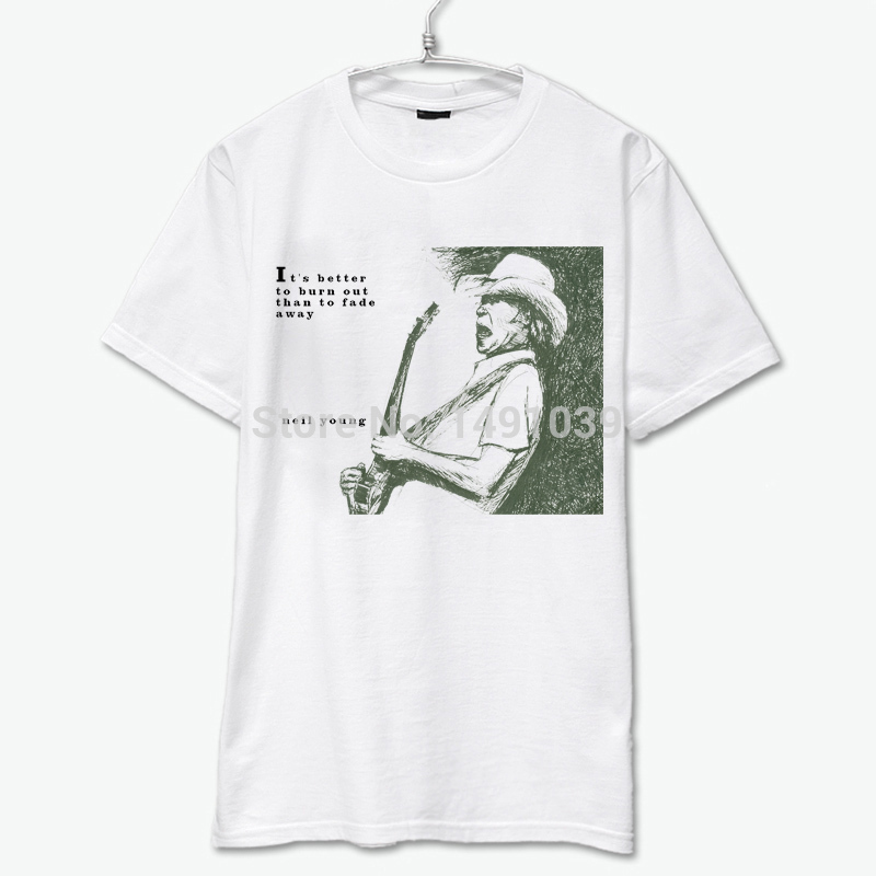 better to burn out than to fade away neil young bob dylan leonard cochen lynyrd skynyrd lou reed vintage fashioon tee shirt