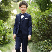 цена Wedding Suit for Boy Single Breasted Boys Suits for Weddings Costume Enfant Garcon Mariage Boys Blazer Jogging Garcon Kids Suits онлайн в 2017 году