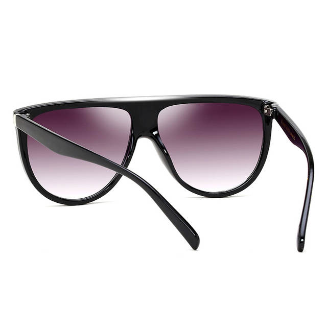 3e94bc655a23c RSSELDN New Black Limpar Praça de Grandes Dimensões Óculos De Sol Mulheres  Gradiente Verão 2019 Estilo