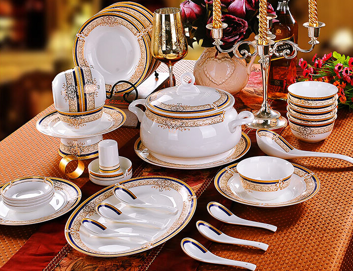 Popular Quality Crockery Buy Cheap Quality Crockery lots  :  font b Quality b font gold rim ceramic dinnerware set 56 piece china font b from www.aliexpress.com size 717 x 551 jpeg 834kB