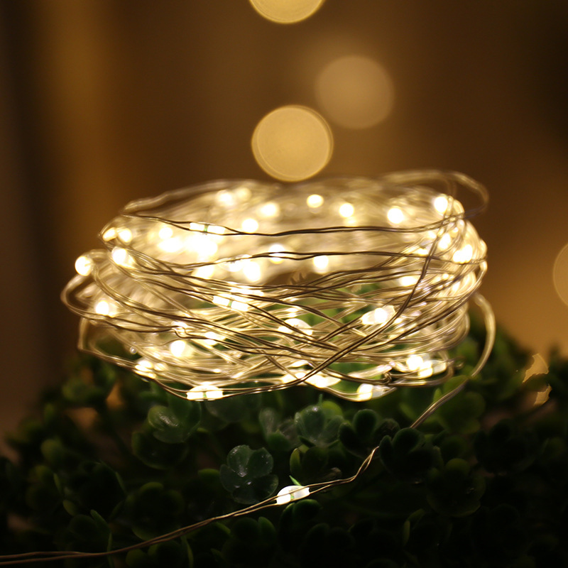 1M 2M 3M 4M 5M 10M 100 Led Strings Copper Wire 3XAA Battery Operated Christmas Wedding Party Decoration LED String Fairy Lights
