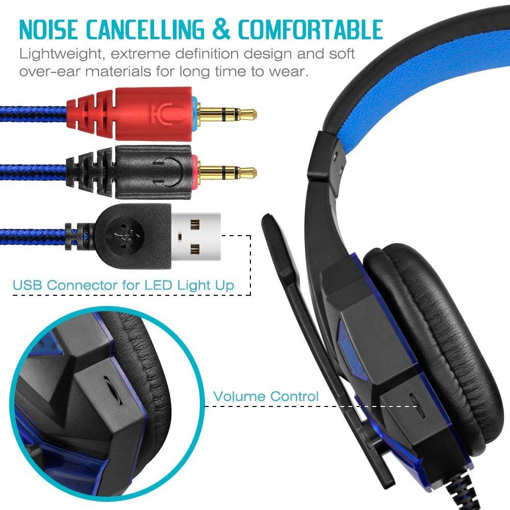 40mm žičani gaming slušalice Gamer slušalice Stereo duboko bas - Prijenosni audio i video - Foto 3