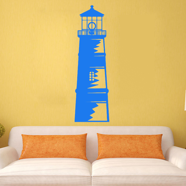 ZOOYOO Nautical Ocean Lighthouse Wall Stickers Home Decor Removable ...