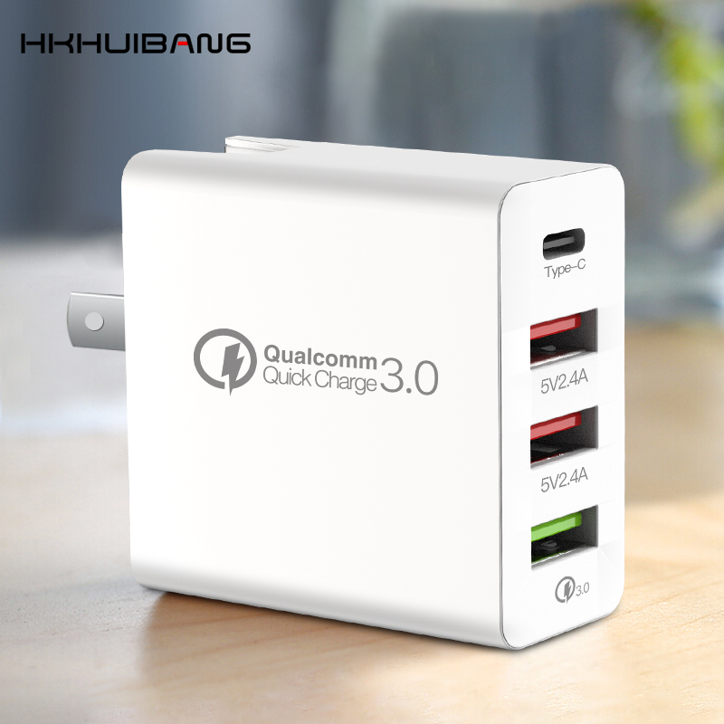36W Charge rapide QC4.0 QC3.0 Type C adaptateur de chargeur USB pour iPhone Xiaomi Huawei Samsung S10 chargeur de tablette Mobile à Charge rapide