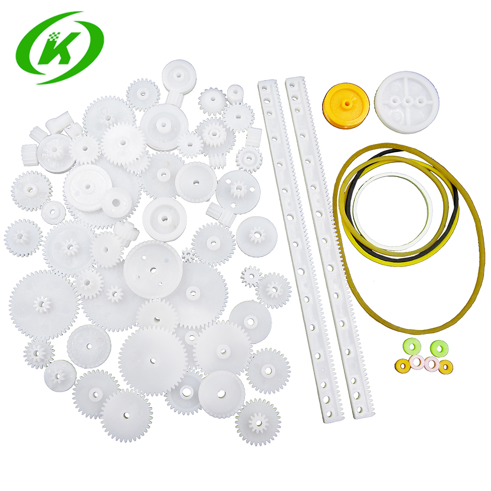 Plastic Gear Smart Electronics Rack Pulley Belt Worm Gear Single-and Double-Gear 8-56 Teeth 75PCS//lot