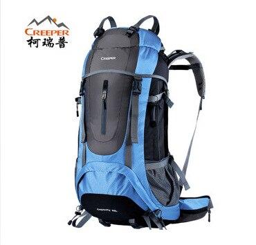 ФОТО Hot Sale Men's Outdoor Climbing Backpacks Waterproof Nylon Travel Sport Mountaineering Bag Zipper Hiking Backpack Backpacker 45L