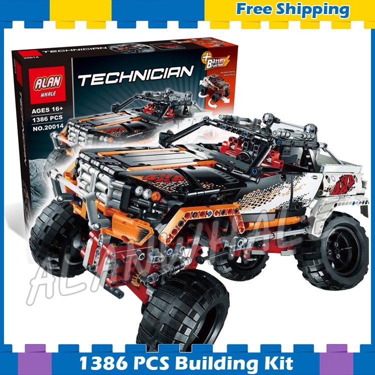 1386pcs 2in1 Technic Remote Controlled 4 x 4 Rock Crawler Off-road Truck 20014 Model Building Blocks Sets Compatible With Lego 1636pcs 2in1 techinic remote controlled