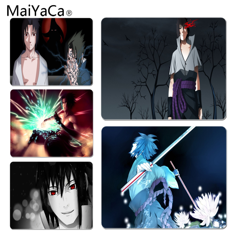 MaiYaCa Naruto Uchiha Sasuke Large Mouse pad PC Computer mat Size for 18x22x0.2cm Gaming Mousepads