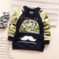 roupas de bebe Autumn Baby Boys Camouflage Print Mustache Long Sleeve O Neck Cotton Kids Casual T-shirt Tops Infant Clothes