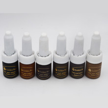 Free shipping 7pc Cosmetic Tattoo Permanent Makeup Micro Pigment Color