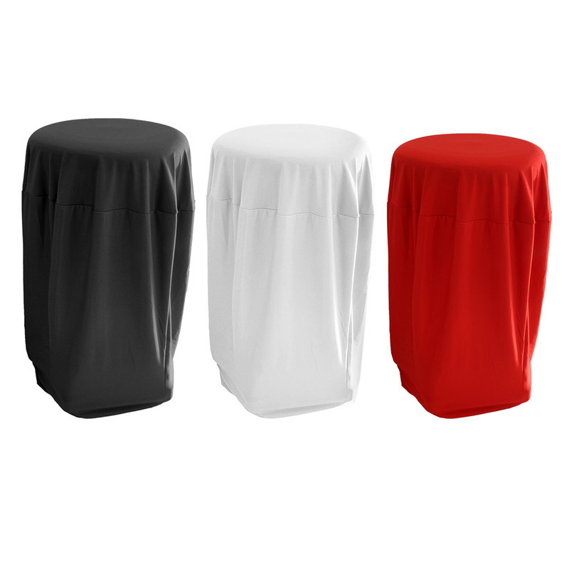 Fashion Lycra Stretch Tail Table Cloth Spandex Cover Wedding Event Bar Decorative Round Tablecloth