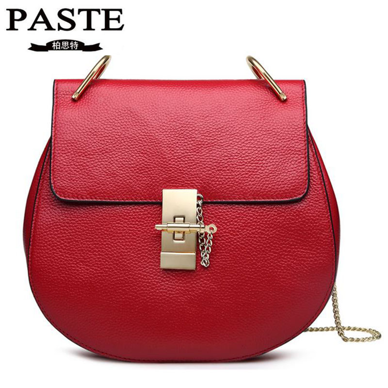 Fashion Brand Genuine Cow Leather Women Bags Small Pig Shoulder Bag Luxury Chains Strap Crossbody Bags Casual Tote For Lady