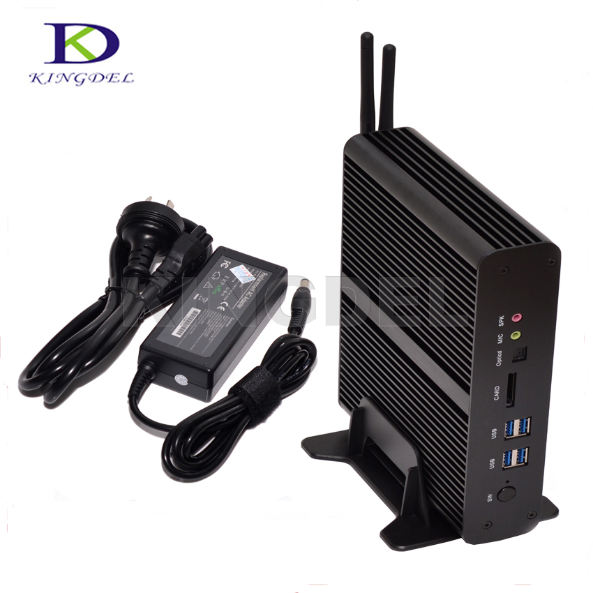 Kingdel Intel I7 5500U 5600U Dual Core Fanless Mini PC HTPC Max 16GB RAM 2*Gigabit LAN+2*HDMI+SPDIF+4*USB3.0 300M Wifi Windows10