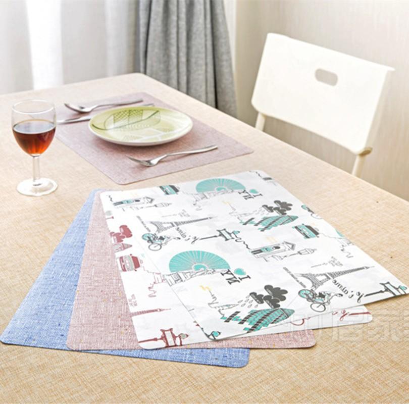 ⑦Moda no tejido impresión Esterillas coasters Bol pad olla mesa de ...