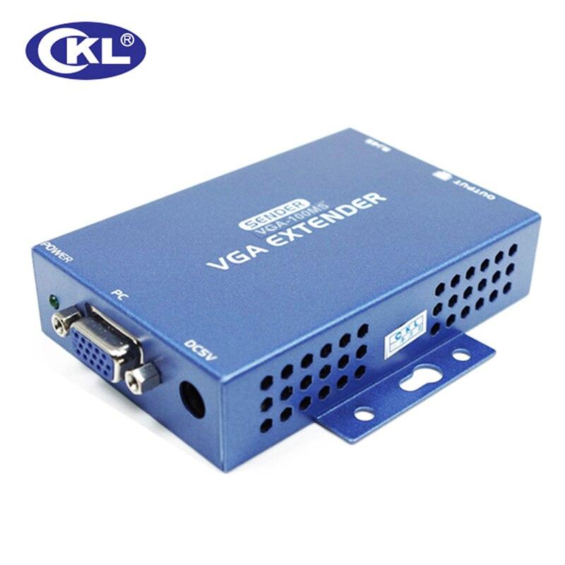 CKL VGA Video Audio Extender Over Cat5e Up to 100M (328 Feet) VGA-100MS Multiplatform Supports SVGA XGA SXGA &Multisync Monitors 80 channels hdmi to dvb t modulator hdmi extender over coaxial