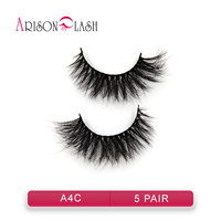 5pair New Fashion 100 Real 3D Mink Full Strip False Eyelash Long Thick Eyelash Natural False