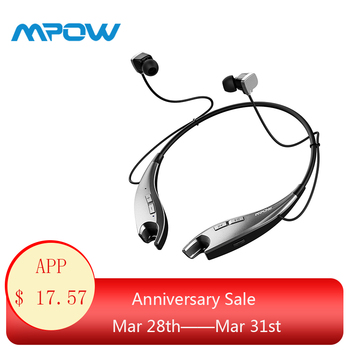 2019 NEW Mpow Jaws Wireless Earphones Bluetooth Headphone Neck Halter Style Earbuds Earphone Hands-free Calling for iPhone X/8/7