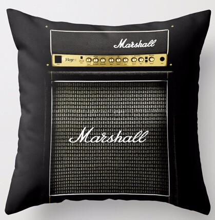 Customized Guitar Electric Marshall Amp Amplifier Special for Music Mania Cool Zippered Square Throw Pillowcase Cushion Case