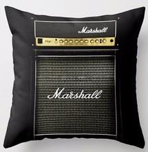 Personalizado Guitarras eléctrica Marshall AMP Amplificadores especial para música manía fresco cremallera cuadrado Mantas almohada Cojines caso