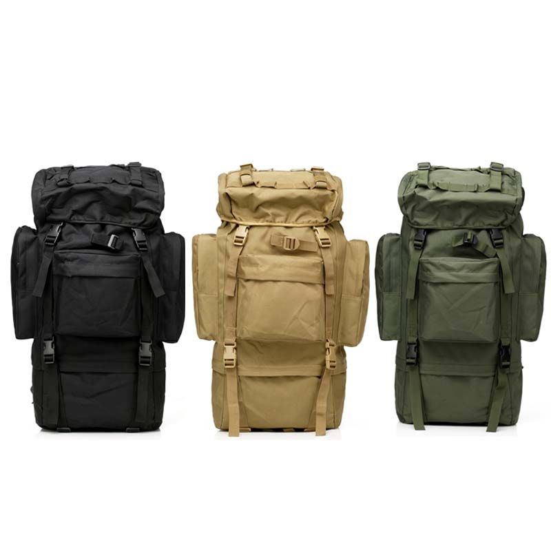 65L Large Capacity ManTactical Travel Backpack Outdoors Camping Hiking Bag for Mountaineers Rain Cover Metal Frame Climbing Bags free shipping wholesale retail sa212 saddle bag motorcycle side helmet riding travel bags rain cover one pair