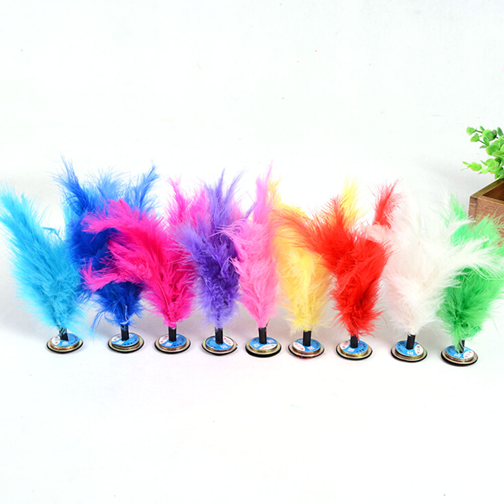 1 Pc Indoor/Outdoor Portable Colorful Feather Chinese Jianzi Foot Sports Toy Game Kicking Kick Shuttlecock