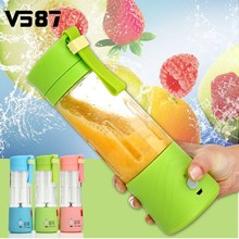 Máquina de Fruta Exprimidor eléctrico de Mini Portátil USB Recargable del fabricante del Smoothie Blender Agitar Y Tomar Jugo Exprimidor Lenta 3 Colores