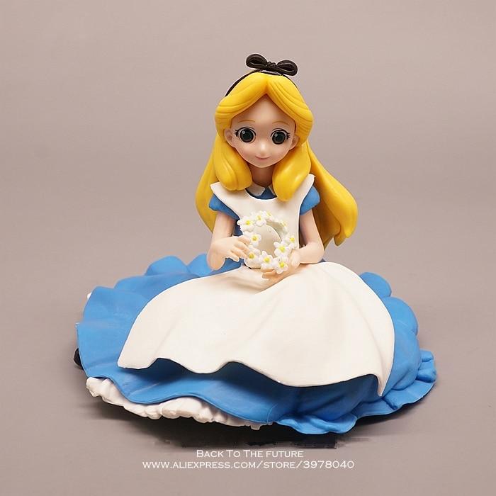 Disney Alice in Wonderland princess 11cm Action Figure Model Anime Mini Decoration PVC Collection Figurine Toy model children figurine