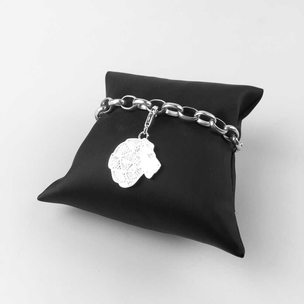 Серебряный лев Подвески кулон, Модные украшения 925 пробы серебряный модный подарок для Для женщин Для мужчин Vaderdag Fit Браслет для колье и сумки 20