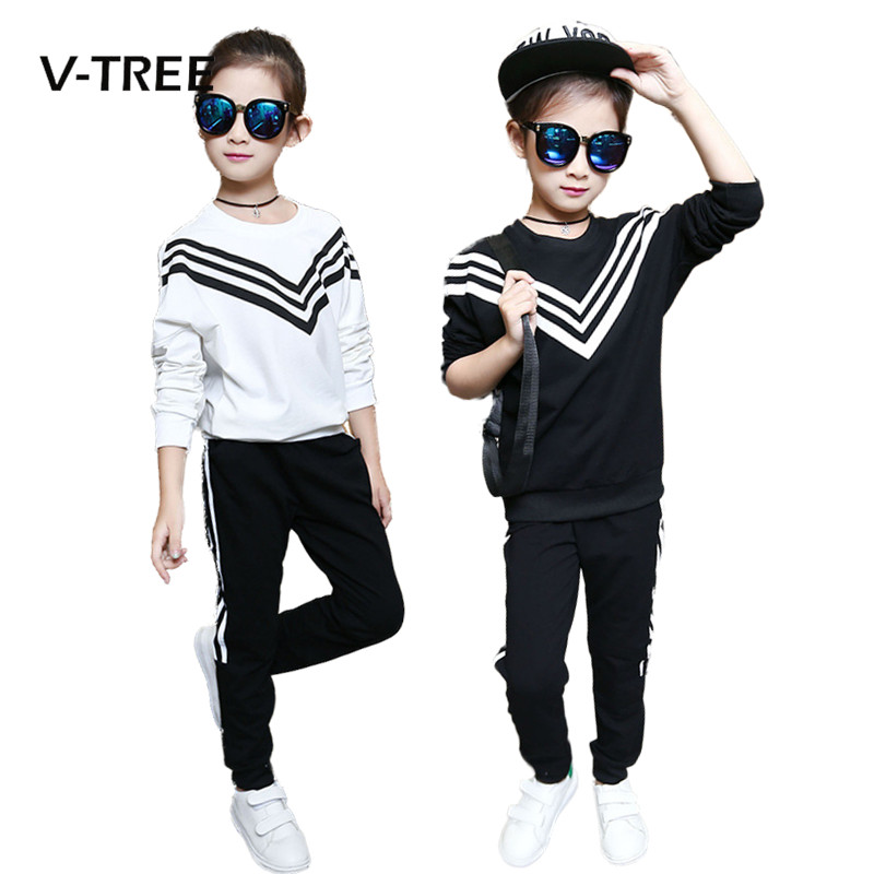 2017 Teenage Girls Clothing Sets Fashion Navy Style Sports Suit Sets For Girl Kids T Shirt + Pant Clothing Sets Children Clothes car cigarette powered charging adapter charger w micro usb cable for tablet pcs black