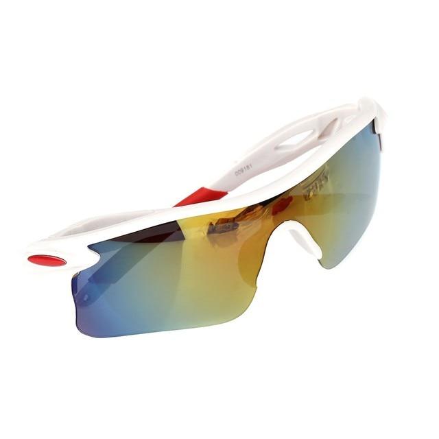 Lunettes de lunettes de sport Lunettes de soleil polarisées Cyclisme coupe-vent Lunettes de miroir, C
