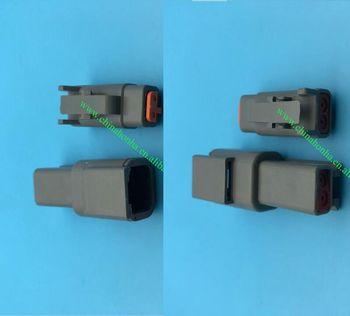 10/20/50/100 Uds Deutsch DTM 2 Pin DTM06-2S ATM06-2S DTM04-2P ATM04-2P eléctrico a prueba de agua conector de Sensor de temperatura de aire