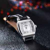 JULIUS Montre Femme Bracelet Watch Leather Luxury Watch Antique Square Casual Leather Dress Wrist Whatch Women