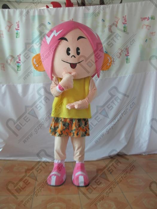 fashion girl mascot costumes pink