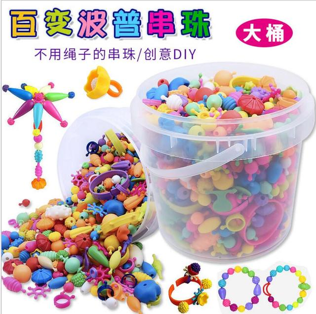 Pop Beads Toys Snap Together Necklace And Bracelet Crafts Jewelry Fashion Kit Diy Educational Kid S Toy