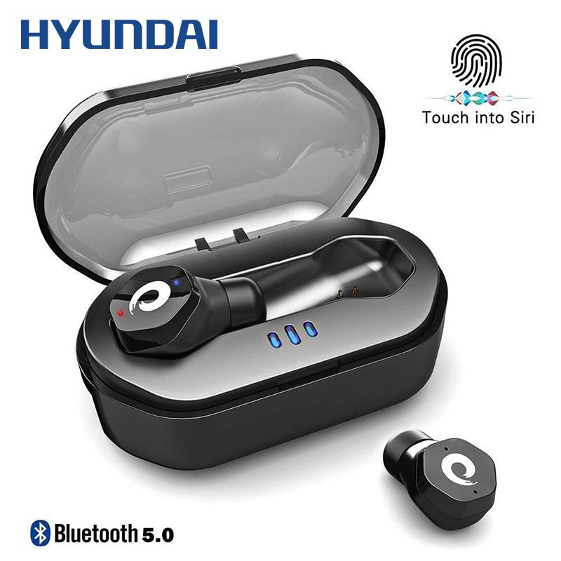 HYUNDAI TWS Wahre Wireless Touch Control Wasserdichte Fitness Running Ohrhörer Wirklich Bluetooth Kopfhörer mit Lade Box Lärm