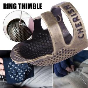 Dedo de Metal Protector lana ganchillo costura duradera primavera DIY dedo dedal Retro hilado dedal Accesorios
