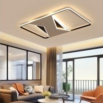 Moderne Led Kronleuchter lichter für wohnzimmer schlafzimmer plafonnier  lustre de plafond Rechteck Moderne LED Decke Kronleuchter